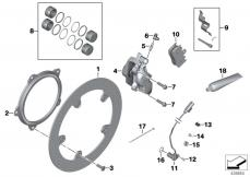 Goto diagram: BMW Classic Motorrad Modell R 900 RT 05 SF (0367,0387)( ECE ), Category 34.11 Front brake, retrofit, rivet kit :: Diagram: 34_1392