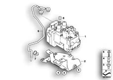 Goto diagram: BMW Classic Motorbike Model K 1200 R (0584,0594)( USA ), Category 34.51 Pressure modulator Integral ABS :: Diagram: 34_1438