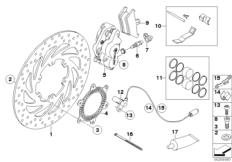 Goto diagram: BMW Classic Motorrad Modell F 800 GS Adve. (0B05, 0B15)( ECE ), Category 34.11 FRONT WHEEL BRAKE :: Diagram: 34_1665
