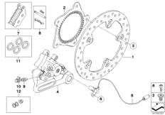 Goto diagram: BMW Classic Motorrad Modell F 700 GS 17 (0B26)( BRA ), Category 34.21 Rear wheel brake :: Diagram: 34_1675