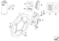 Goto diagram: BMW Classic Motorrad Modell G 450 X (0145)( USA ), Category 34.11 FRONT WHEEL BRAKE :: Diagram: 34_1712