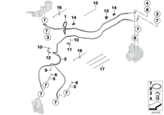 Goto diagram: BMW Classic Motorbike Model S 1000 RR 12 (0524,0534)( USA ), Category 34.32 Brake line, sport ABS, front :: Diagram: 34_1793