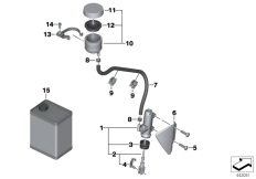 Goto diagram: BMW Classic Motorbike Model R 1200 GS Adve. 10 (0470,0480)( ECE ), Category 34.31 Rear brake master cylinder w container :: Diagram: 34_1827