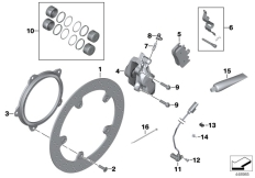 Goto diagram: BMW Classic Motorbike Model K 1200 GT (0587,0597)( USA ), Category 34.11 Front brake, retrofit, rivet kit :: Diagram: 34_1831