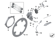 Goto diagram: BMW Classic Motorbike Model R 1200 R 06 (0378,0398)( USA ), Category 34.11 Front brake, retrofit, rivet kit :: Diagram: 34_1839