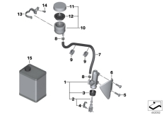 Goto diagram: BMW Classic Motorbike Model R 1200 GS 04 (0307,0317)( ECE ), Category 34.31 Rear brake master cylinder w container :: Diagram: 34_1846
