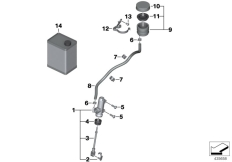 Goto diagram: BMW Classic Motorbike Model R 900 RT 05 SF (0367,0387)( ECE ), Category 34.31 Rear brake master cylinder w container :: Diagram: 34_1861