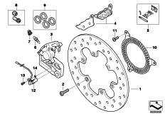 Goto diagram: BMW Classic Motorrad Modell G 650 GS Sertão (0136, 0146)( ECE ), Category 34.21 Rear wheel brake :: Diagram: 34_1889
