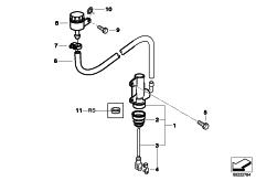 Goto diagram: BMW Classic Motorbike Model G 650 GS 09 (0178,0179)( ECE ), Category 34.31 Rear brake master cylinder w container :: Diagram: 34_1895