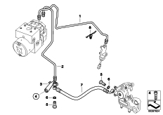 Goto diagram: BMW Classic Motorrad Modell G 650 GS Sertão (0136, 0146)( ECE ), Category 34.32 BRAKE PIPE REAR ABS :: Diagram: 34_1897