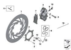Goto diagram: BMW Classic Motorrad Modell G 650 GS Sertão (0136, 0146)( ECE ), Category 34.11 FRONT WHEEL BRAKE :: Diagram: 34_1899