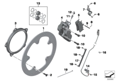 Goto diagram: BMW Classic Motorbike Model K 1600 GTL 17 (0F02, 0F12)( USA ), Category 34.11 FRONT WHEEL BRAKE :: Diagram: 34_1920