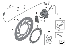 Goto diagram: BMW Classic Motorbike Model K 1600 GTL 17 (0F02, 0F12)( USA ), Category 34.21 Rear wheel brake :: Diagram: 34_1921