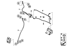 Goto diagram: BMW Classic Motorrad Modell G 650 GS Sertão (0136, 0146)( ECE ), Category 34.32 BRAKE PIPE FRONT ABS :: Diagram: 34_1950