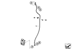 Goto diagram: BMW Classic Motorrad Modell G 650 GS Sertão (0136, 0146)( ECE ), Category 34.32 Brake pipe, front, without ABS :: Diagram: 34_1951