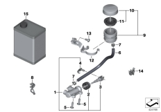 Goto diagram: BMW Classic Motorrad Modell R 1200 S (0366,0396)( ECE ), Category 34.31 Rear brake master cylinder w container :: Diagram: 34_1977