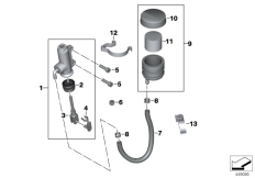 Goto diagram: BMW Classic Motorbike Model K 1300 R (0518,0519)( USA ), Category 34.31 Rear brake master cylinder w container :: Diagram: 34_1983