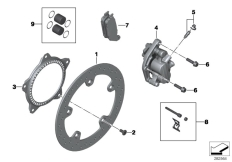 Goto diagram: BMW Classic Motorrad Modell C 650 Sport 16 (0C04, 0C14)( USA ), Category 34.11 FRONT WHEEL BRAKE :: Diagram: 34_2024