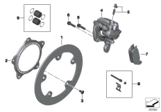 Goto diagram: BMW Classic Motorrad Modell C 650 Sport 16 (0C04, 0C14)( USA ), Category 34.21 Rear wheel brake :: Diagram: 34_2028