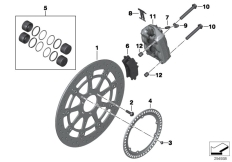 Goto diagram: BMW Classic Motorrad Modell HP4 (0D01, 0D11)( ECE ), Category 34.11 FRONT WHEEL BRAKE :: Diagram: 34_2059