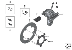Goto diagram: BMW Classic Motorbike Model S 1000 R 17 (0D72)( BRA ), Category 34.21 Rear wheel brake :: Diagram: 34_2061