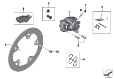 Goto diagram: BMW Classic Motorrad Modell R 1200 RS (0A05, 0A15)( USA ), Category 34.21 Rear wheel brake :: Diagram: 34_2072