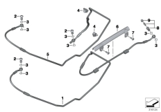 Goto diagram: BMW Classic Motorrad Modell R nineT (0A06, 0A16)( USA ), Category 34.32 Brake pipe rear :: Diagram: 34_2094