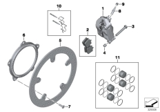 Goto diagram: BMW Classic Motorbike Model S 1000 R 17 (0D72)( BRA ), Category 34.11 FRONT WHEEL BRAKE :: Diagram: 34_2130