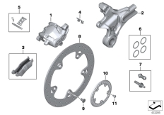Goto diagram: BMW Classic Motorbike Model S 1000 XR (0D23)( BRA ), Category 34.21 Rear wheel brake :: Diagram: 34_2272
