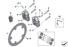 Goto diagram: BMW Classic Motorbike Model F 800 R 15 (0B34)( THA ), Category 34.11 FRONT WHEEL BRAKE :: Diagram: 34_2289