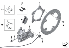 Goto diagram: BMW Classic Motorbike Model F 800 R 15 (0B34)( THA ), Category 34.21 Rear wheel brake :: Diagram: 34_2291