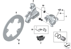 Goto diagram: BMW Classic Motorrad Modell G 310 GS (0G22)( BRA ), Category 34.21 Rear wheel brake :: Diagram: 34_2457