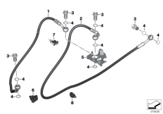 Goto diagram: BMW Classic Motorbike Model G 310 R (0G01, 0G11)( USA ), Category 34.32 Brake lines, front :: Diagram: 34_2459