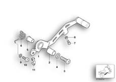 Goto diagram: BMW Classic Motorbike Model K 1200 GT 01 (0548,0558)( USA ), Category 35.21 Brake pedal :: Diagram: 35_0190