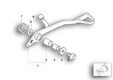 Goto diagram: BMW Classic Motorbike Model G 650 GS 09 (0178,0179)( ECE ), Category 35.21 Brake pedal :: Diagram: 35_0264