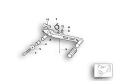 Goto diagram: BMW Classic Motorrad Modell R 1150 RS 01 (0447,0498)( USA ), Category 35.21 Brake pedal :: Diagram: 35_0278