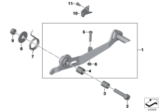 Goto diagram: BMW Classic Motorbike Model R 900 RT 05 SF (0367,0387)( ECE ), Category 35.21 Brake pedal :: Diagram: 35_0343