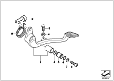 Goto diagram: BMW Classic Motorbike Model R 1200 C Indep. 00 (0405,0433)( ECE ), Category 35.21 Brake pedal :: Diagram: 35_0359