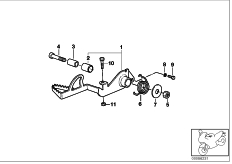 Goto diagram: BMW Classic Motorbike Model R 1100 GS 94 (0404,0409)( USA ), Category 35.21 Brake pedal :: Diagram: 35_0362