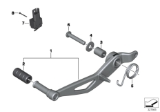 Goto diagram: BMW Classic Motorbike Model R nineT Racer (0J21, 0J23)( USA ), Category 35.21 Brake pedal :: Diagram: 35_0370