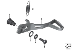 Goto diagram: BMW Classic Motorrad Modell R 1200 GS 17 (0A51, 0A61)( USA ), Category 35.21 Brake pedal :: Diagram: 35_0380