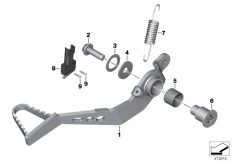 Goto diagram: BMW Classic Motorrad Modell R nineT Scrambler (0J31, 0J33)( USA ), Category 35.21 Brake pedal :: Diagram: 35_0478