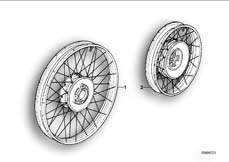Goto diagram: BMW Classic Motorrad Modell R 80 R 91( ECE ), Category 36.05 Spoke wheel :: Diagram: 36S0167