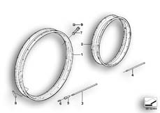 Goto diagram: BMW Classic Motorrad Modell R 80 R 91( ECE ), Category 36.05 SPOKE WHEEL RIM/SPOKE :: Diagram: 36S0168
