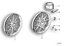 Goto diagram: BMW Classic Motorbike Model R 100 RS( ECE ), Category 36.10 CAST IRON RIM SILVER :: Diagram: 36_0158