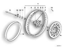 Goto diagram: BMW Classic Motorbike Model F 650 ST 97 (0163,0168)( USA ), Category 36.31 Front wheel :: Diagram: 36_0176