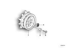 Goto diagram: BMW Classic Motorbike Model R 1200 C Indep. 00 (0405,0433)( ECE ), Category 36.31 WHEEL HUB REAR :: Diagram: 36_0179
