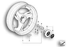 Goto diagram: BMW Classic Motorbike Model R 1200 C Indep. 00 (0405,0433)( ECE ), Category 36.31 Cast rim, rear :: Diagram: 36_0472