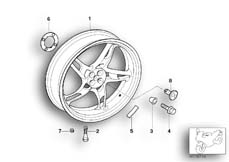 Goto diagram: BMW Classic Motorbike Model R 1150 RT 00 (0419,0499)( USA ), Category 36.31 Cast rim, rear :: Diagram: 36_0483