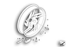 Goto diagram: BMW Classic Motorrad Modell R 1200 S (0366,0396)( ECE ), Category 36.31 Cast rim, rear :: Diagram: 36_0782